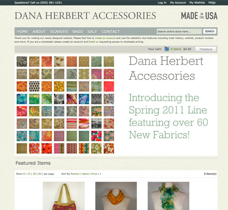 Dana Herbert Accessories Website Redesign