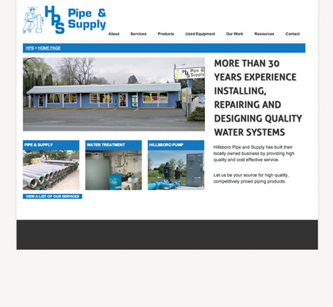 Hillsboro Pipe and Supply Website Design